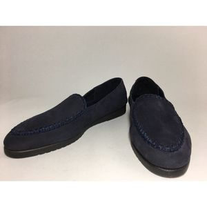 Etienne Aigner Blue Suede Loafers Moccasin 9.5 M